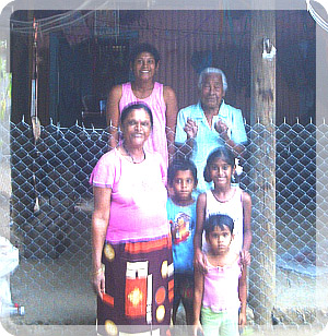 Sheron with her family